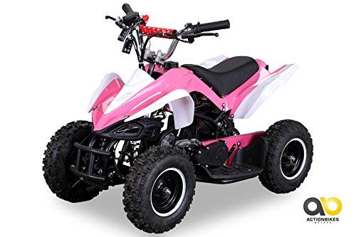 Mini Kinder ATV 49 cc Racer Pocketquad 2-takt Quad (pink / weiß)