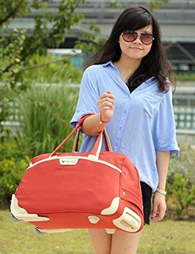 Licht Faltbare Trolley Tasche Wasserdichte Oxford Tuch Laufkatze Fall Gepäck Tasche ( Farbe : 3 , größe : 49*28*28cm ) 1
