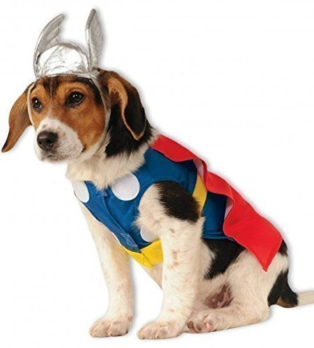 Fancy Me Haustier Hund Katze Thor Avengers Marvel Halloween Kostüm Kleid Outfit Kleidung Kleidung - Large