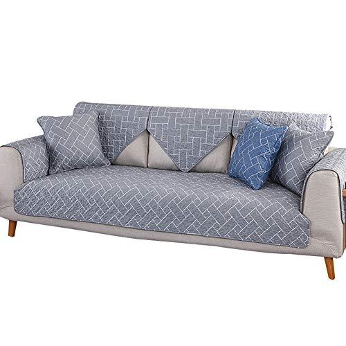 Aqawas cuscino divano divano copriscarpe cotone-cotone plaid quattro stagioni divano antiscivolo cuscino per cane divano antimacchia divano letto componibile,gray1_35*94inch