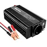 Bapdas 500W Auto Spannungswandler Wechselrichter DC 12V auf 220-230V Power Inverter 2 USB Anschlüsse