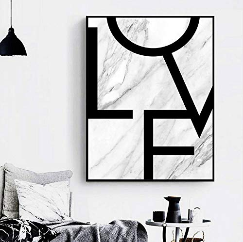 Marmor Parfüm (Paris Parfüm Liebe Marmor Zitat Wandkunst Leinwand Malerei Nordic Poster Und Drucke Wandbild Für Wohnzimmer Wohnkultur Rahmen 40x50 cm)