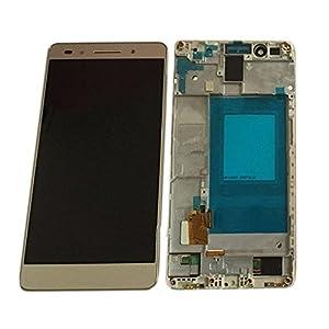 LCD Display Einheit Huawei Honor 7 kompatibel mit Rahmen Gold + Werkzeug