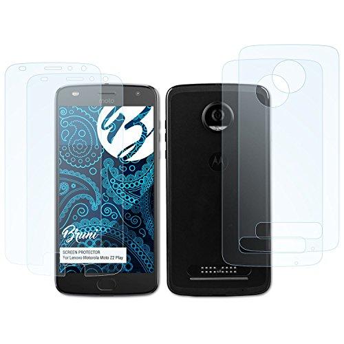 Basic-handy Verizon (Bruni Schutzfolie für Lenovo Motorola Moto Z2 Play Folie - 2er Set glasklare Displayschutzfolie)