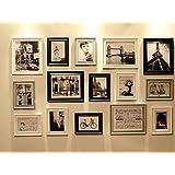 Conjunto de Marcos de Fotos con RD15 Imágenes, Marco de Fotos, Conjunto de Marcos de Fotos de Pared con 15 Marcos de Alta Calidad, Conjunto de marcos de fotos de pared grande, Mejores Decoraciones de Pared (RD15 Moderno)