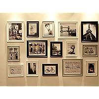 Set di 15 Cornici Multi Immagine, Set di Cornici da Muro con 15 Cornici di Alta Qualità, Grande set di cornici da muro per foto, Migliori Decorazioni da Muro, Cornici Fotografiche Vintage (RD15 Moderno)
