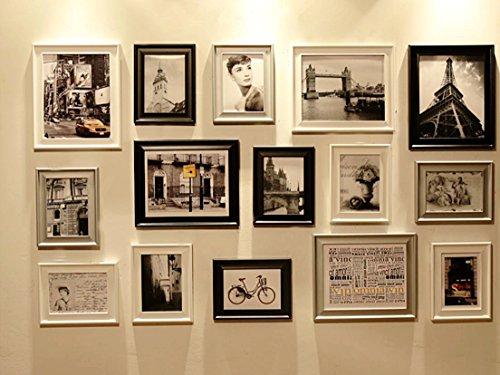 Bilderrahmen-Set, 15-teilig, groß, zum Verschönern einer Wandfläche von ca. Vintage-Optik (RD15 Modern)