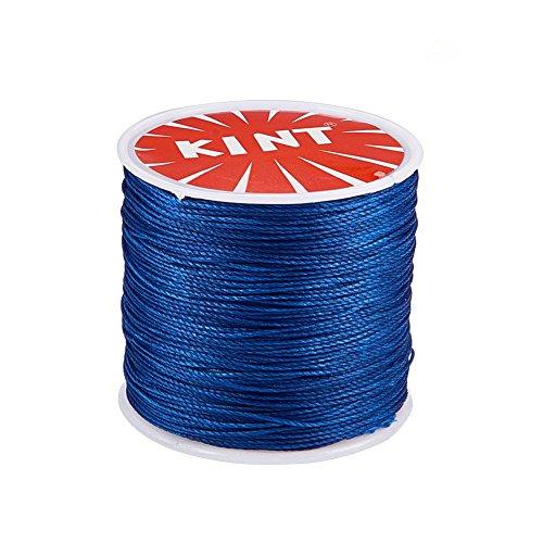 PandaHall Elite - Bobina de Hilo de algodón Encerado para Hacer Joyas y macramé, Azul, 106m/roll 0.5mm