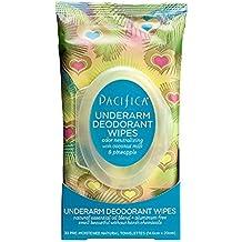 PACIFICA - Toallitas desodorantes para leche de coco y piña, ...