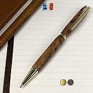 Penna in Legno idi radica di Tuia, prodotta artigianalmente in Francia. Possibilità di incisione personalizzat
