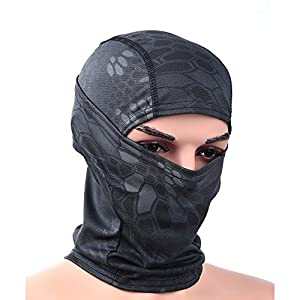 RUNACC Vollgesichtsmaske Unisex Winddichte Balaclava Warm Winter MaskeCS Kopftuch geeignet für Outdoor *Biwak*Skifahren*Radfahren* Klettern * Fahrrad*Wandern*Motorradfahren (Schwarz-B) (B)