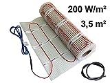 EXTHERM TWIN Heizkabel-Matte Für Elektrische Fußboden-Heizung 3,5m² –- Installation – 200W/m2 -- Komfortable Wärme In All Ihren Räumen – Erneuerbare Energielösung 3,5m²