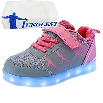 (Present:kleines Handtuch)Schwarz EU 29, mode Kinderschuhe Freizeitschuhe Farbe 7 USB Paare Mädchen Schuhe Sport laufende Aufladen Winter Junge schuhe und JUNGLEST® Her