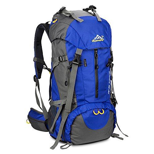 Imagen de skysper 50l  de senderismo al aire libre macutos  de senderismo impermeable ergonómica para viajes excursiones acampadas trekking 60*30*20 cm