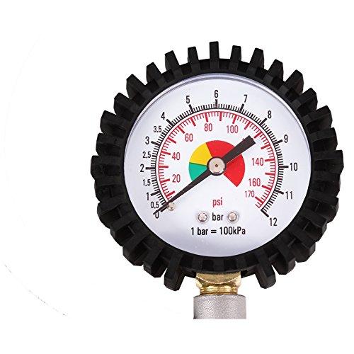 tecpo-professionale-aria-compressa-Pistola-Gonfiaggio-Pneumatici-0--12-Bar-0--170-PSI-reinfen-Fueller-Misuratore-Tester-pressione-aria