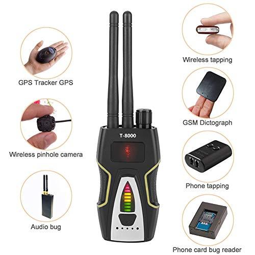 Características:  Dispositivo profesional de detección de ondas de radio con alta sensibilidad, umbral ajustable y amplio rango de frecuencia de detección.  Siempre y cuando el interruptor de encendido + interruptor de sensibilidad, fácil de operar,...