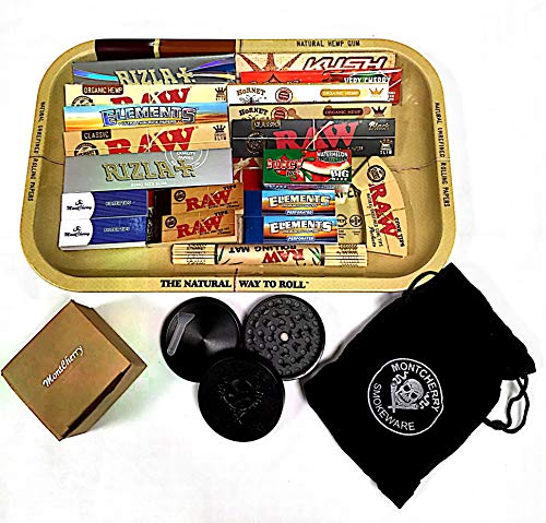 RAW Gift Set 1970's Style Small Metal Rolling Tray Mix Products Deal Gift for you or your loved ones sold by Trendz