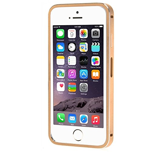 Pour iPhone 6 Plus / 6s Plus, Link Dream Fashion Metal Protective Case JING ( Color : Black ) Gold