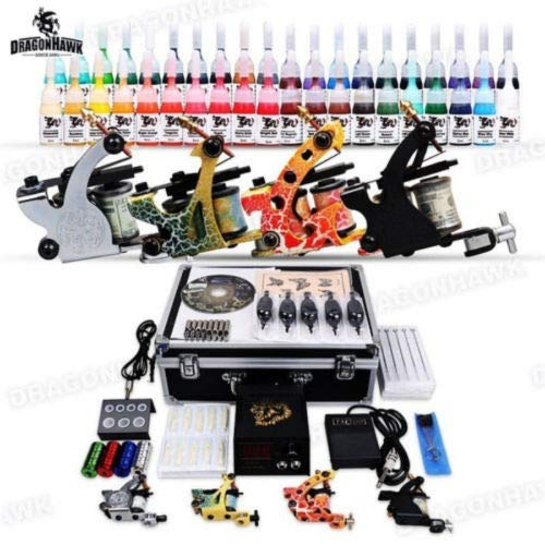 OUKANING Tätowierung Komplett-Set Tattoo Set 40 Inks 4 Tattoo maschine mit Needeln
