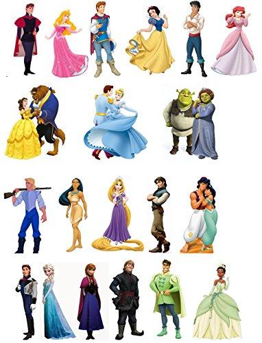 20, mit Standfunktion, Motiv: Prinz und Prinzessin, essbares Oblatenpapier, essbar, ()