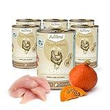AniForte Katzenfutter Land Chicken 6 x 400g für Katzen, Nassfutter ohne künstliche Vitamine und chemische Zusätze