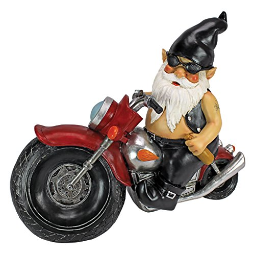 Design Toscano Dekofigur Biker mit Lederjacke, Maße: 14 x 34,5 x 28 cm