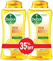 Dettol Fresh Anti-Bacterial Body Wash 250ml Twin Pack At 35% Off