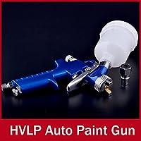Oxita (TM) auto pistola a spruzzo H2000tradizionale mini HVLP Con 0,8mm Ugello Automotive Shop vernice Gun Strumento Navy Blue Air Brush lega