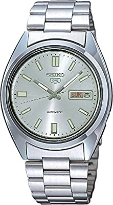 Seiko SNXS73 - Reloj analógico de caballero automático con correa de acero inoxidable plateada - sumergible a 30 metros