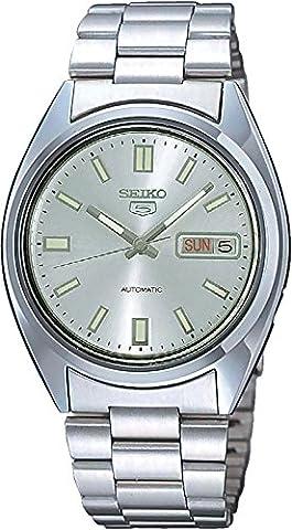 Seiko - SNXS73K - 5 Gent - Montre Homme - Automatique Analogique - Cadran Gris - Bracelet Acier Gris