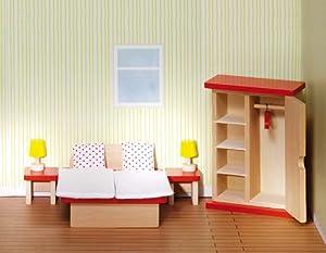 Goki 51715 Accesorio para casa de muñecas Dollhouse Bedroom - Accesorios para Casas de muñecas (Dollhouse Bedroom, Play Dollhouse, Madera,, 3 año(s), 480 g)