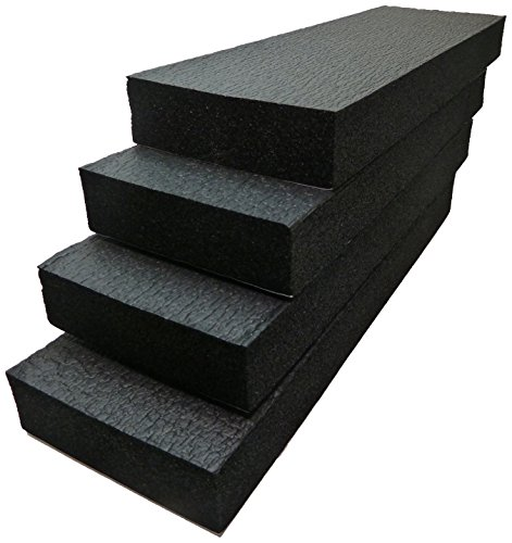 Connected Essentials, ensemble de 4 plaques, mousse de calage de haute densité pour protéger contre les chocs et les dommages, protecteurs pour les bords de porte et les pare-chocs, noirs