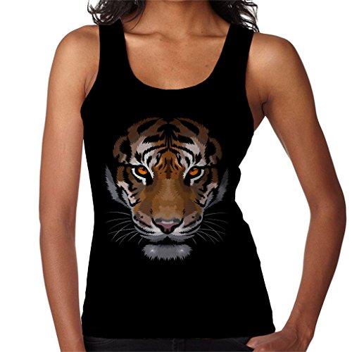 Cloud City 7 Shadow Face Tiger Women's Vest Black