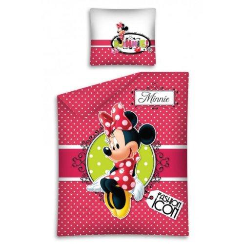 Copripiumino Copriletto Singolo Cotone Disney Minnie Topolina 160x200 Cm Federa 70x80 Cm Una Piazza - Shop Fashion Icon