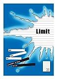 LIMIT 100050508 Schulheft 10er Pack A4 Lineatur 21 - liniert 16 Blatt blau