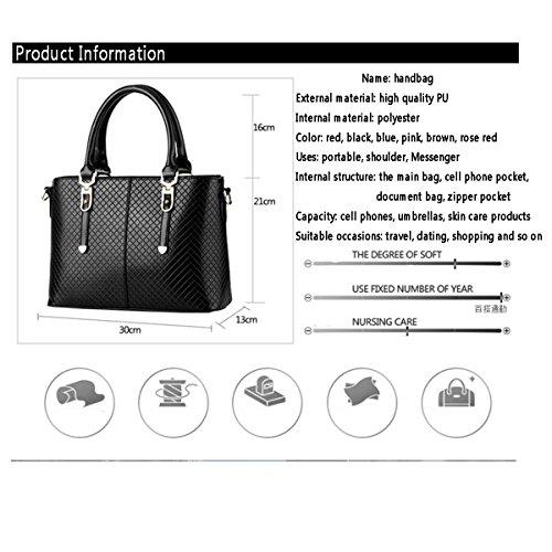 WU ZHI Damen Handtaschen PU Wilde Messenger Bags Handtaschen Schultertasche Brown