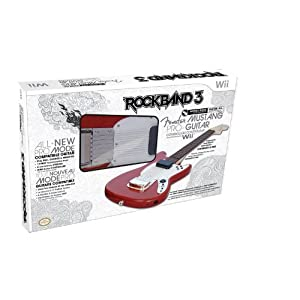Gitarre MC Rock Band 3 Fender Mustang Guitar Controller red