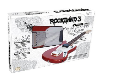 Price comparison product image Rock Band 3 Wireless Mustang Pro Guitar- Red (Wii)