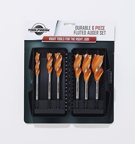 ToolFreak Auger-Holzbohrer Set 6 Teilig 13mm 16mm 20mm 22mm 25mm 32mm Mit KOSTENLOSEM BONUS-GESCHENK