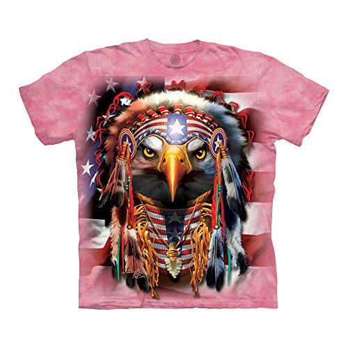 The Mountain Unisex-Erwachsene Native Patriot Eagle T-Shirt, Rose, 5X-Large - Eagle Damen Rosa T-shirt