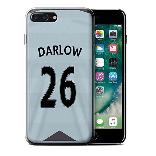 Offiziell Newcastle United FC Hülle / Gel TPU Case für Apple iPhone 7 Plus / Pack 29pcs Muster / NUFC Trikot Away 15/16 Kollektion Darlow