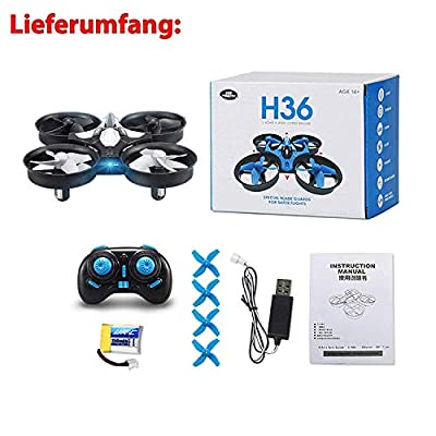 JJRC H36 Mini UFO RC Quadcopter 2.4GHz 6 Axis Gyro 360° Drone Headless Remote Control, Camera Not Included
