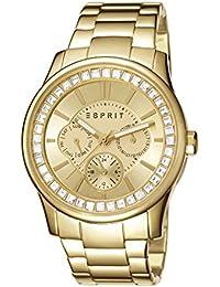 Esprit Damen-Armbanduhr Starlite Analog Quarz Edelstahl beschichtet ES105442008