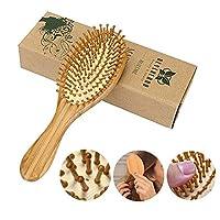 Neverland Wooden Hair Brush Anti Static Detangling Massage Cushioned Bristle Comb