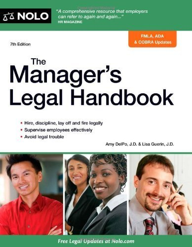 The Manager's Legal Handbook by DelPo, Amy, Guerin, Lisa (2014) Paperback