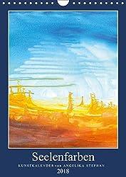 Kunstkalender Seelenfarben 2018 (Wandkalender 2018 DIN A4 hoch): 12 abstrakte Bilder von Angelika Stephan (Monatskalender, 14 Seiten ) (CALVENDO Kunst) [Kalender] [Mar 10, 2017] Stephan, Angelika