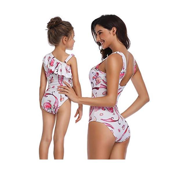 Costumi da Mare Madre e Figlia Moda Bikini Floreale Due Pezzi Boho Hippie Chic Tankini con Volant Uguale Abbigliamento… 4 spesavip