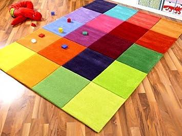 Kinder teppich  Amazon.de: Lifestyle Kinderteppich Happy Bunt in 5 Größen ...