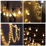 LED Lichterkette 200LED 20M Kugeln Außen Partylichterkette Gartenbeleuchtung (Warmweiß)