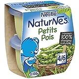 Nestlé naturnes petits pois 2 x 130g dès 4/6 mois - ( Prix Unitaire ) - Envoi Rapide Et Soignée